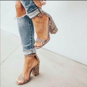 Shoes - FINAL - Leopard Print Ankle Strap Heels